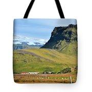 Glacier Mountains Meadows Farm Tote Bag by David Halperin