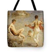 Gleaming Waters Tote Bag by Henry Scott Tuke