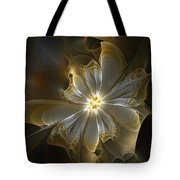 Glowing In Silver And Gold Tote Bag by Amanda Moore