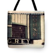 Go Greyhound And Leave The Driving To Us Tote Bag by Jane Linders