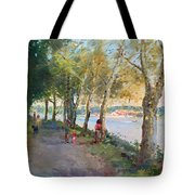 Going For A Stroll Tote Bag by Ylli Haruni