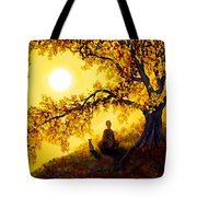 Golden Afternoon Meditation Tote Bag by Laura Iverson