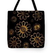 Golden Flowers Tote Bag by Frank Tschakert