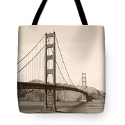 Golden Gate Bridge San Francisco - A Thirty-five Million Dollar Steel Harp Tote Bag by Christine Till