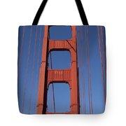 Golden Gate Bridge Tower Tote Bag by Garry Gay