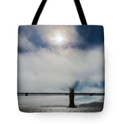 Golden Gate Silhouette And Rainbow Tote Bag by Scott Campbell