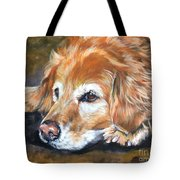 Golden Retriever Senior Tote Bag by Lee Ann Shepard