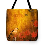 Golden Tote Bag by Wingsdomain Art and Photography
