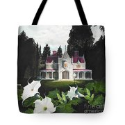 Gothic Country House Detail From Night Bridge Tote Bag by Melissa A Benson