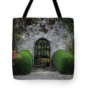 Gothic Entrance Gate, Walled Garden Tote Bag by The Irish Image Collection