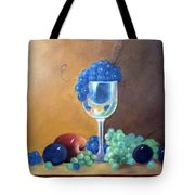 Grapes And Plums Tote Bag by Susan Dehlinger