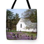 Graveyard Phlox Country Church Tote Bag by John Stephens