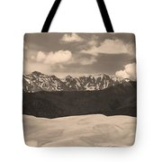 Great Sand Dunes Panorama 1 Sepia Tote Bag by James BO  Insogna