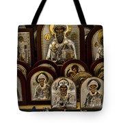 Greek Orthodox Church Icons Tote Bag by David Smith