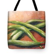 Green Beans Tote Bag by Sandra Neumann Wilderman