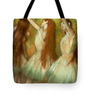 Green Dancers Tote Bag by Edgar Degas