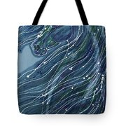 Green Horse With Flying Mane Tote Bag by Carol  Law Conklin