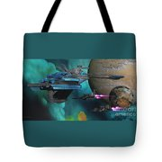 Green Nebular Expanse Tote Bag by Corey Ford