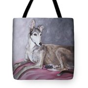 Greyhound At Rest Tote Bag by George Pedro