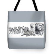 Growing Up Chinese Shar-pei Tote Bag by Barbara Keith