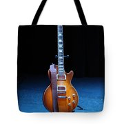 Guitar Blue Tote Bag by Lauri Novak