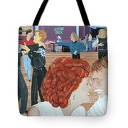Guitars And Cadillacs Omaha Tote Bag by Christine Belt