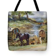 Gypsy Encampment Tote Bag by John Atkinson