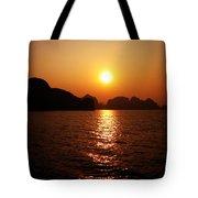 Ha Long Bay Sunset Tote Bag by Oliver Johnston