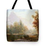 Half Dome Yosemite Tote Bag by Albert Bierstadt