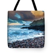 Hana Bay Pebble Beach Tote Bag by Inge Johnsson