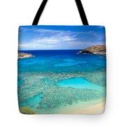 Hanauma Bay Tote Bag by Peter French - Printscapes