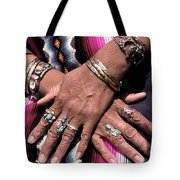Hands Of The Earth Tote Bag by Linda  Parker