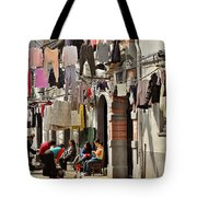 Hanging Out In The Streets Of Shanghai Tote Bag by Christine Till