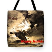 Happy Holidays . Winter Migration Tote Bag by Wingsdomain Art and Photography