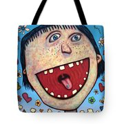 Happy Pill Tote Bag by James W Johnson