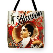 Harry Houdini - King Of Cards Tote Bag by Digital Reproductions