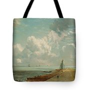 Harwich - The Low Lighthouse And Beacon Hill Tote Bag by John Constable