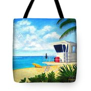 Hawaii North Shore Banzai Pipeline Tote Bag by Jerome Stumphauzer
