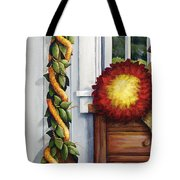 Hawaiian Still Life Panel Tote Bag by Sandra Blazel - Printscapes