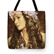 Hawaiian Wahine Tote Bag by Himani - Printscapes