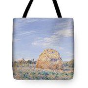 Haystack on the Banks of the Loing Tote Bag by Alfred Sisley