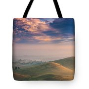 Hazy Sunrise Tote Bag by Marc Crumpler