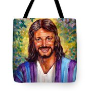 He Smiles Tote Bag by John Lautermilch