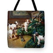 He Who Pays the Piper Calls the Tune Tote Bag by John Hayes