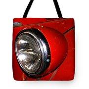 Headlamp On Antique Fire Engine Tote Bag by Douglas Barnett