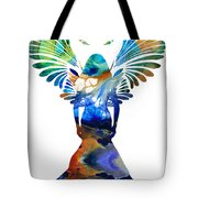 Healing Angel - Spiritual Art Painting Tote Bag by Sharon Cummings