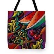 Healthy Fruit Tote Bag by Leon Zernitsky