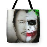 'Heath / Joker' Tote Bag by Christian Chapman Art