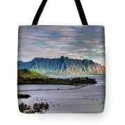 He'eia Fish Pond And Kualoa Tote Bag by Dan McManus