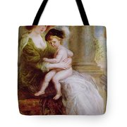 Helene Fourment And Her Son Frans Tote Bag by Rubens